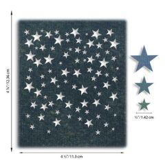 Sizzix Thinlits Die Set - Falling Stars 4PK Tim Holtz