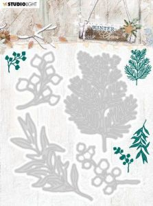 Studio Light Embossing Die Cut Stencil Winter Charm nr.323 94x124mm