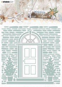 Studio Light Embossing Folder With Die Cut, Winter Charm nr. 7