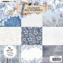 Studio Light Paper pad Celebrate new beginnings nr.159 150x150mm