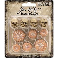 Idea-Ology Mini Skulls & Pumpkins 10/Pkg Halloween