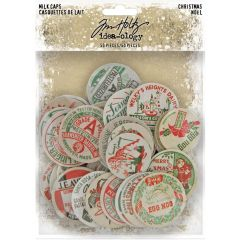 "Idea-Ology Chipboard Milk Caps 50/Pkg Christmas, 1"" To 1.625"""