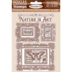 Stamperia Natural Rubber Stamp Nature is Art Frames