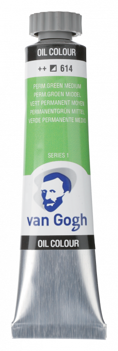 VAN GOGH OLIEVERF PERMANENT GREEN MEDIUM Tube 20ml