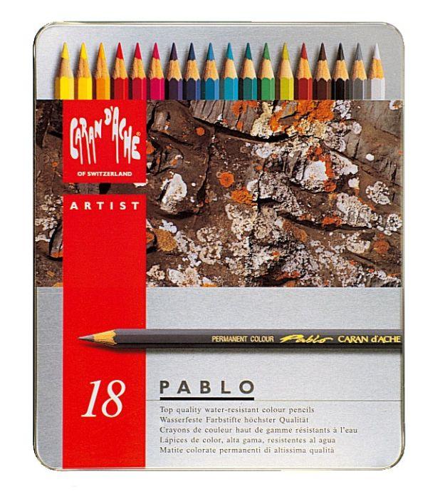 Pablo Metalen doos. 18 kleurpotloden