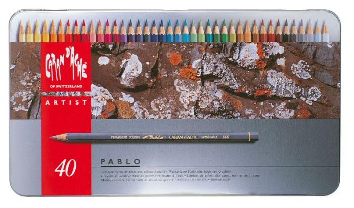 Pablo Metalen doos. 40 kleurpotloden