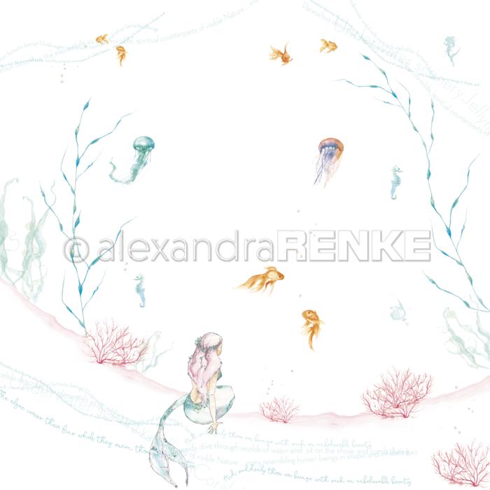 Alexandra Renke Designpapier Sitzende Nixe international