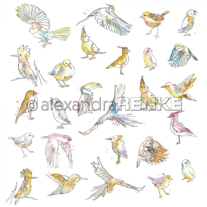 Alexandra Renke Designpaper 'Paradise birds'