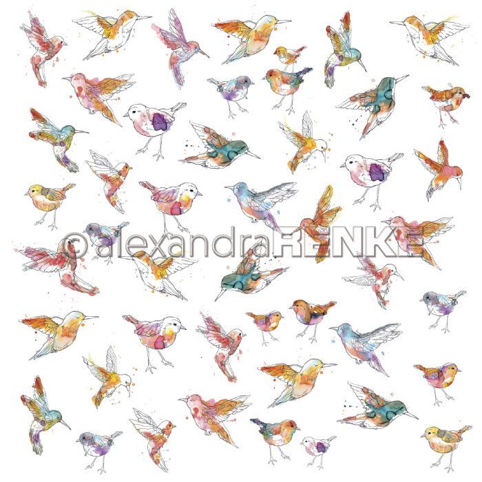 Alexandra Renke Designpaper 'Paradise little pink sparrows'