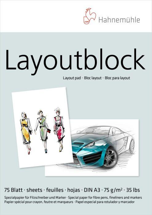 Hahn layout-markerblok 75grs A3