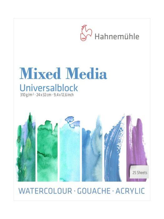 Hahn mixed-mediablok Universal 310grs 24x32 cm