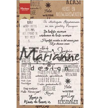 Marianne Design Stamp Kerst- en nieuwjaarswensen