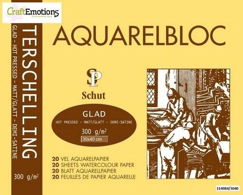 Schut Terschelling Aquarelblok glad 30x40cm 300 grams