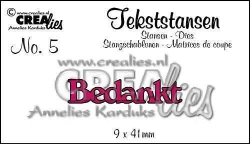Tekststans no. 5 - Bedankt (NL) 9x41 mm
