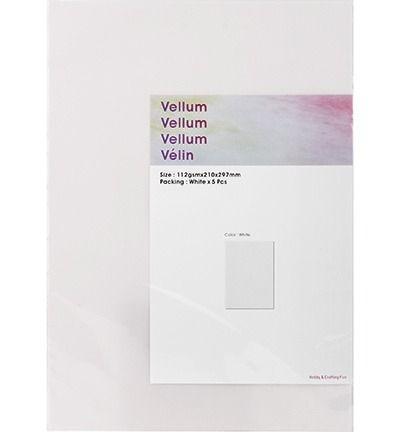 Vellum - Wit, A4, 5 vellen
