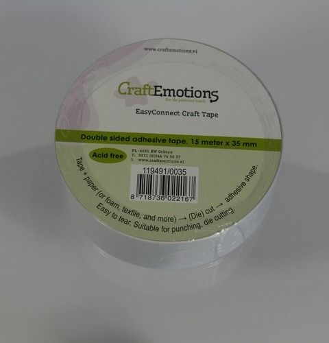 CraftEmotions EasyConnect (dubbelzijdig klevend) Craft tape 35mm