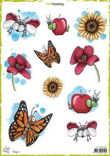 Craft Emotions Decoupage vel Bugs 1