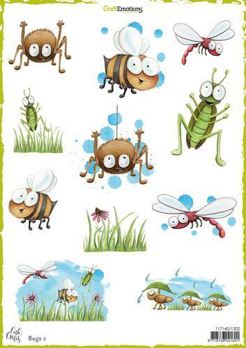 Craft Emotions Decoupage vel Bugs 2