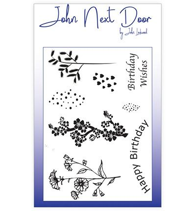 John Next Door Clear Stamp A6 Spring Flowers (8 pcs)
