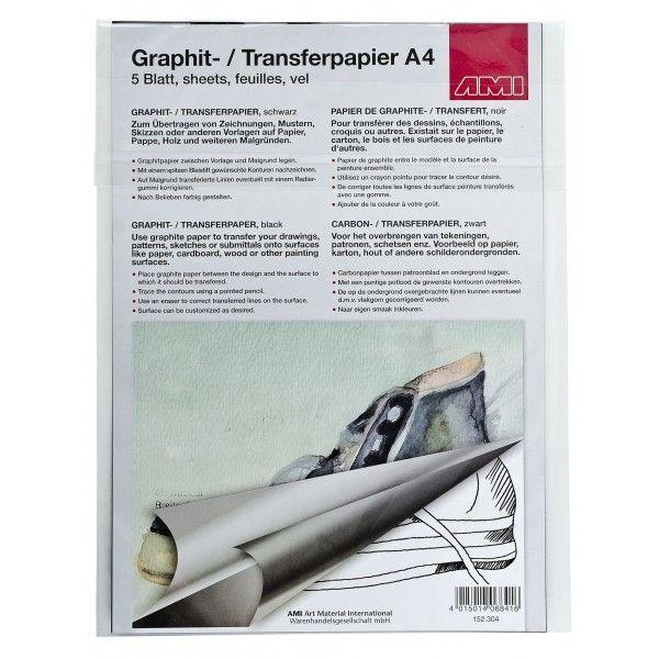 AMI Grafiettpapier A4,   5vel, zwart