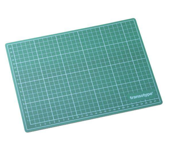 Snijmat Transotype 3mm groen-zwart 20x30cm