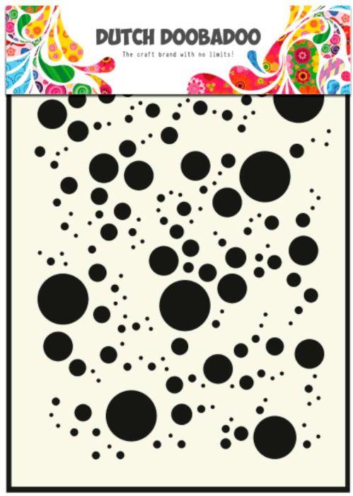 Dutch Doobadoo Dutch Mask Art stencil Bubbles A5