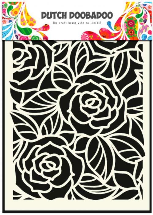 Dutch Doobadoo Dutch Mask Art stencil Big Roses A5