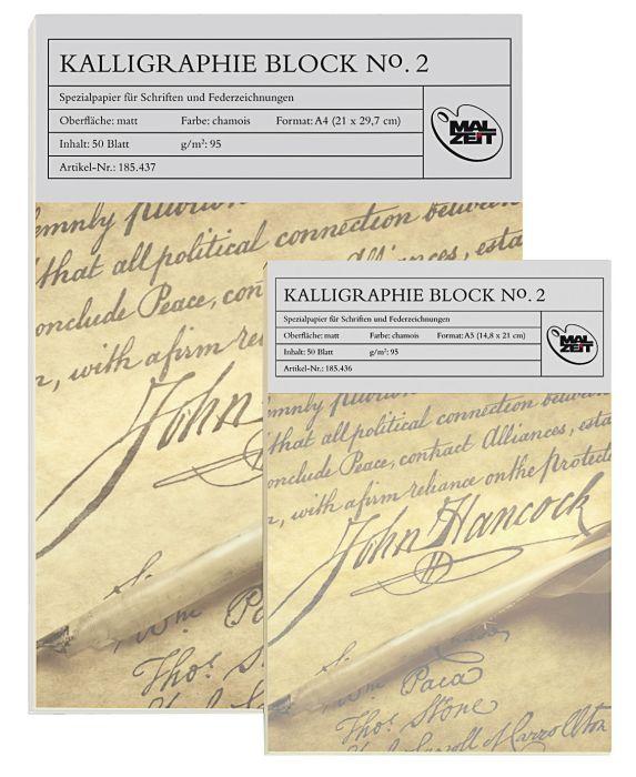 Kalligrafieblok No.2, 95g, A5, 50vel