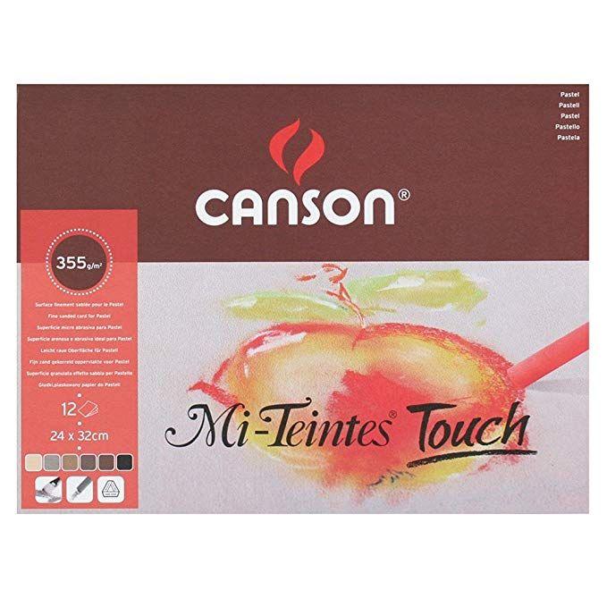 Canson MI-TEINTES® TOUCH blok 12VL 24X32 335G 6 assorti kleuren