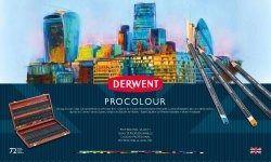 Derwent Procolour Potloden Houten kist 72 kleuren