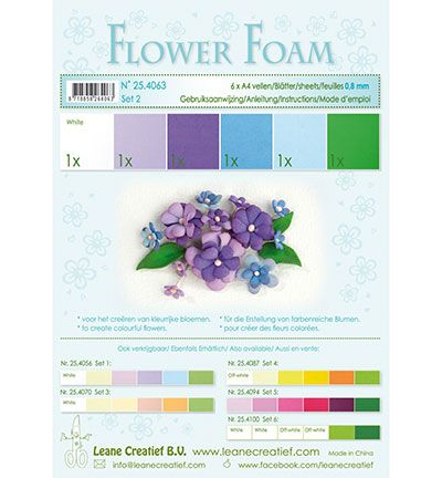 LeCrea Foam sheets assorti Set 2 Blue – Violet Colours