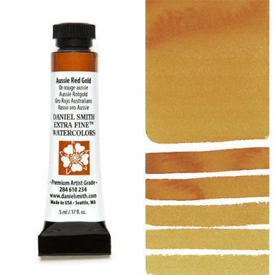 Daniel Smith extra fine watercolors Aussie red Gold 5ml