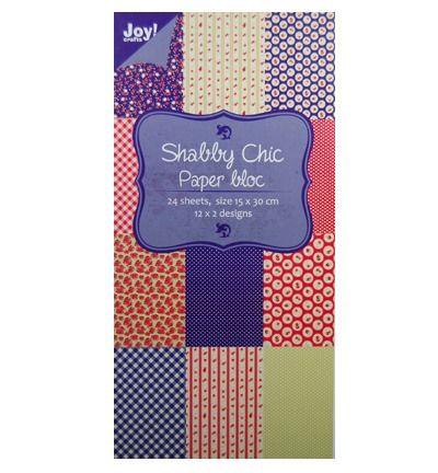 Paper bloc, 15x30cm Shabby Chic (blauw)