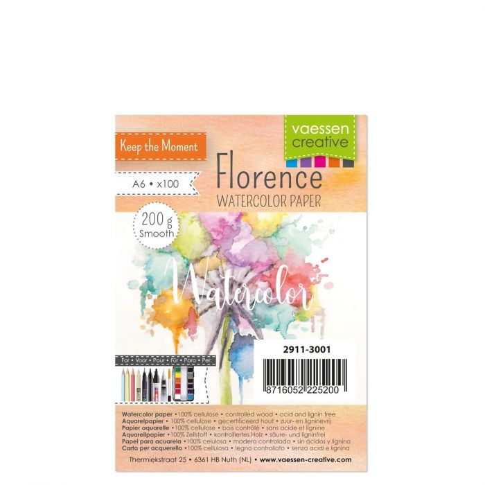 Florence Watercolor paper smooth 200g A6 100pcs