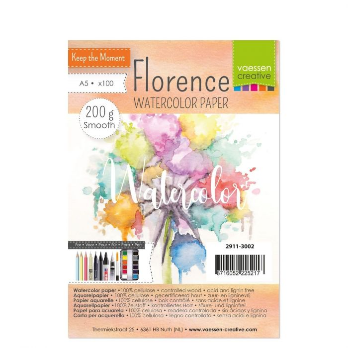 Florence Watercolor paper smooth 200g A5 100pcs