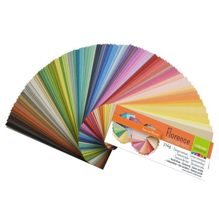 Florence cardstock texture kleurenkaart