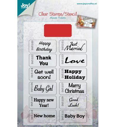 Joy Crafts Stamp + Stencil Bioscoopkaartje