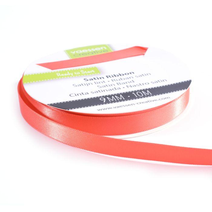 Vaessen Creative Satijnlint dubbel 9 mm Watermeloen