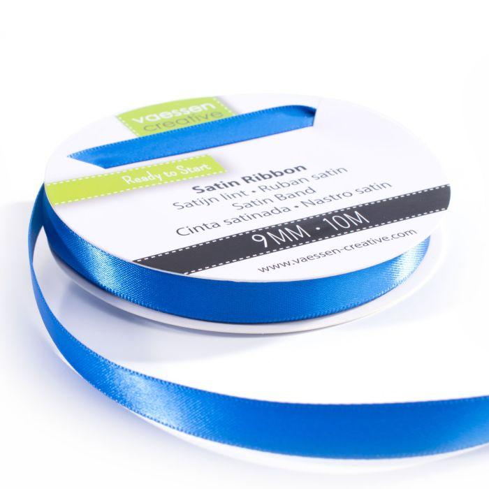 Vaessen Creative Satijnlint dubbel 9 mm Blauw