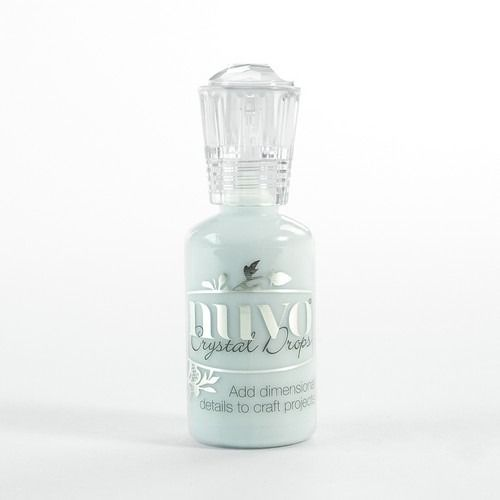 Nuvo crystal drops - duck egg blue