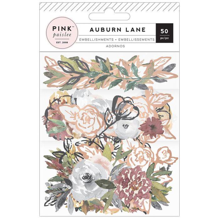 Auburn Lane Ephemera Die-Cuts 50/Pkg Cardstock & Vellum W/Copper Foil