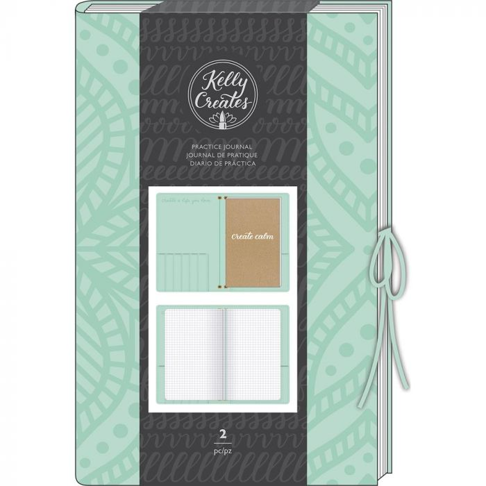 Kelly Creates Practice Journal Suede Cover & 20 Page Grid Insert Teal