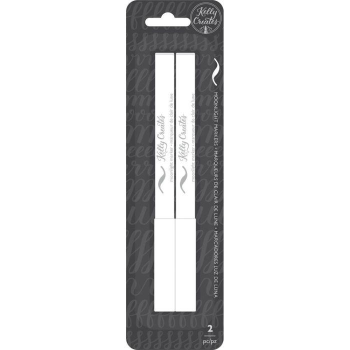 Kelly Creates Moonlight Brush Markers 2/Pkg White