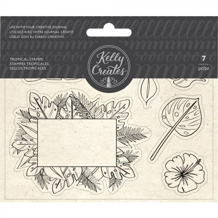 Kelly Creates Acrylic Traceable Stamps Tropical