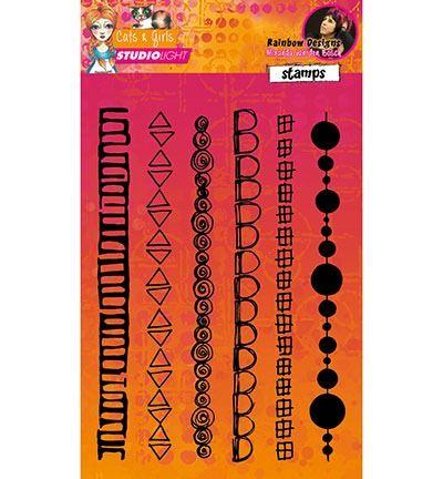 Studio Light Stempels Rainbow Designs Mixed Media Rainbow Designs nr.06