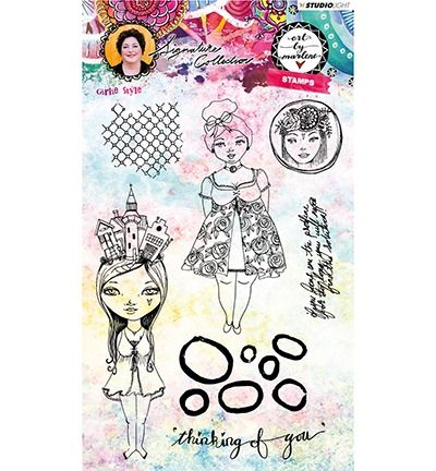 Art By Marlene 3.0 Clear stamp Girlie Style