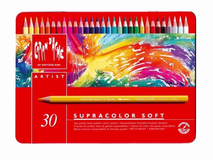 Supracolor Metalen doos. 30 kleurpotloden