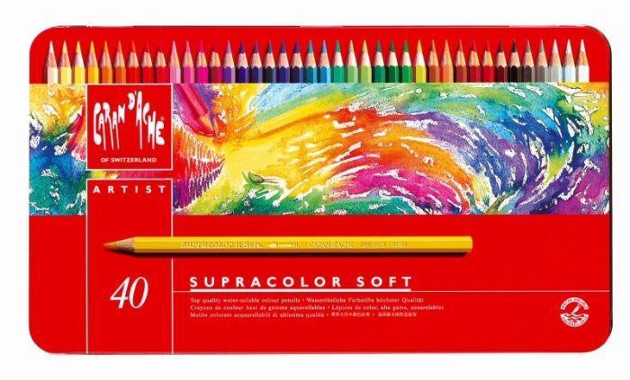 Supracolor Metalen doos. 40 kleurpotloden