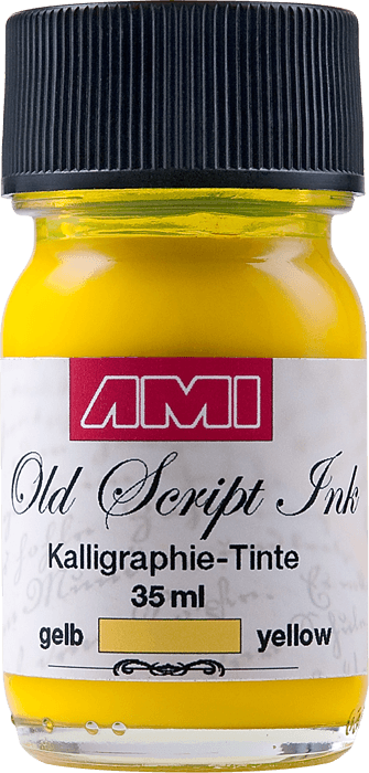 Old Script Ink (kalligraphie) 35ml geel