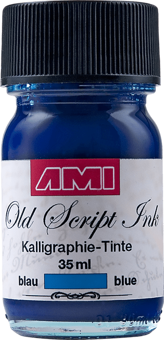 Old Script Ink (kalligraphie) 35ml blauw